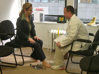 Orthotic Solutions: Process - foot evaluation