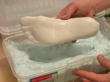 Orthotic Solutions: Process - foot impression
